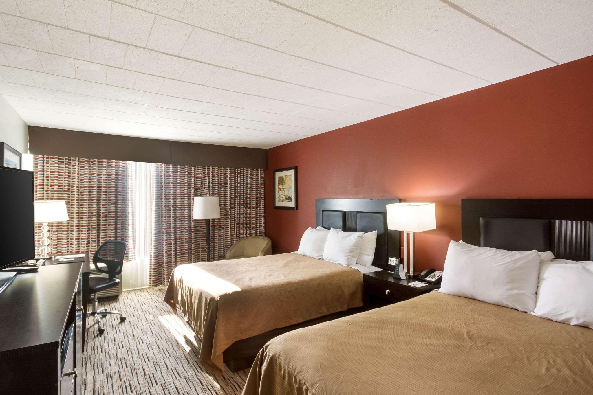 Quadruple two double beds