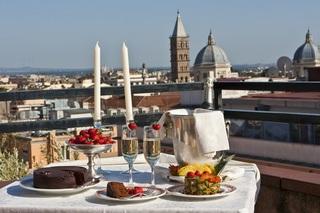 Rome Hotels:Diana Roof Garden