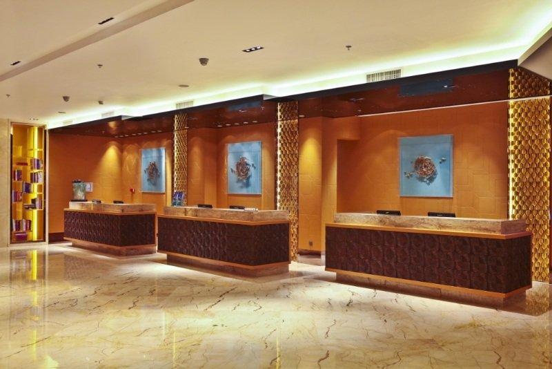 Lobby Guangzhou Marriott Hotel Tianhe