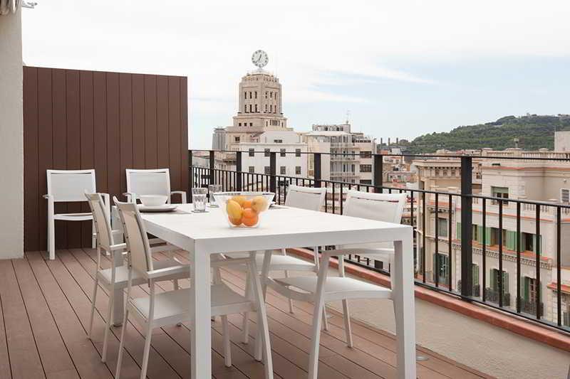 Terrace Rent Top Apartments Rambla Catalunya