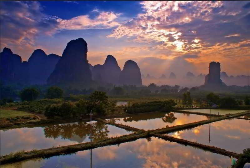 General view Yangshuo Hidden Dragon Villa