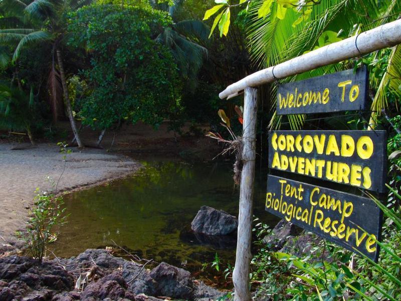 Lobby Corcovado Adventures Tent Camp
