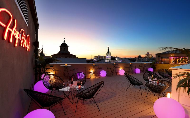 Terrace Axel Hotel Madrid