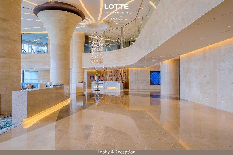 Lobby Lotte Hotel Yangon